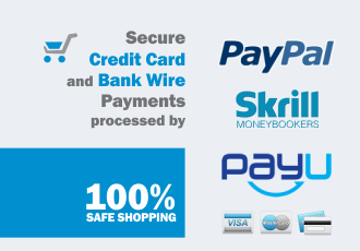 100% Safe Shopping - pay with Paypal, Skrill or Credit Card